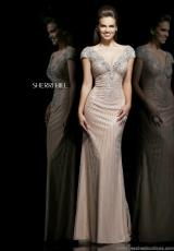 Sherri Hill 11103.  Available in Nude/Silver