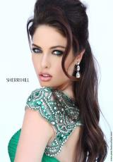 Sherri Hill 11181.  Available in Black/Silver, Blush/Silver, Coral/Silver, Emerald/Silver, Periwinkle/Silver, Royal/Silver, Turq/Silver