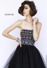 Sherri Hill 11238.  Available in Black/Multi