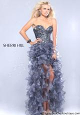 Sherri Hill 1586.  Available in Gunmetal/Gunmetal, Lilac/Silver