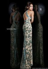 Sherri Hill 1711.  Available in Green/Multi