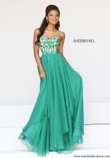 Sherri Hill 1924.  Available in Black, Coral, Emerald, Red, Royal, Turquoise