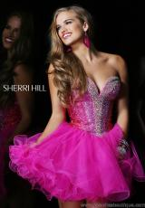 Sherri Hill Short 21062.  Available in Aqua, Fuchsia