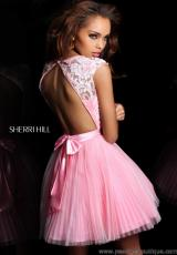Sherri Hill Short 21167.  Available in Aqua/Green, Aqua/Nude, Blush, Light Pink/Pink