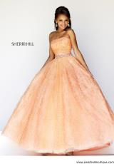 Sherri Hill 21292.  Available in Aqua, Ivory, Peach, Pink