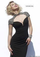 Sherri Hill 32012.  Available in Black/Silver