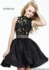 Sherri Hill Short 21194.  Available in Black