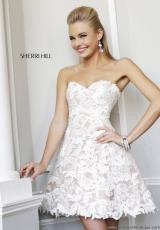Sherri Hill Short 21341.  Available in Ivory/Nude