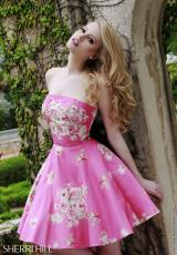 Sherri Hill Short 32074.  Available in Light Blue, Pink
