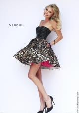 Sherri Hill Short 32146.  Available in Black/Leopard