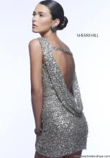 Sherri Hill Short 4800.  Available in Gunmetal