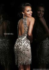 Sherri Hill Short 9705.  Available in Gunmetal
