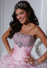 Tiffany Quinceanera 26735.  Available in Pink/Silver, Waterdance/Silver