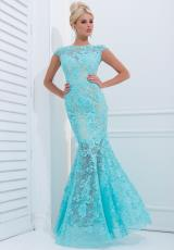 Tony Bowls Evenings TBE11405.  Available in Aqua, Black/Nude, Dark Teal/Nude, Ivory/Nude, Navy Blue/Nude, Red/Nude