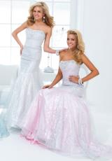 Tony Bowls Le Gala 114522.  Available in Silver/Aqua, Silver/Gold, Silver/Pink, Silver/White