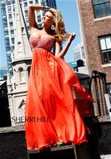 Sherri Hill 3802.  Available in Aqua, Black, Coral, Dark Purple, Nude, Orange, Pink, Red, Royal, White