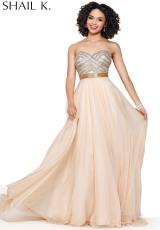 Shail K. 3902.  Available in Nude/Gold, White/Gold