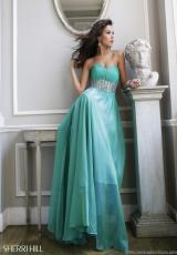 Sherri Hill 3909.  Available in Green
