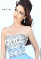 Sherri Hill 11175.  Available in Black/Multi, Green/Multi, Ivory/Multi, Melon/Multi, Periwinkle/Multi, Yellow/Multi