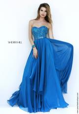 Sherri Hill 1943.  Available in Aqua, Navy, Peacock, Periwinkle, Pink, Purple, Ruby, Teal, Yellow
