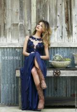 Sherri Hill 5207.  Available in Ivory, Navy, Red, Strawberry, Teal
