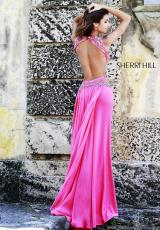 Sherri Hill 11158.  Available in Black/Silver, Coral/Silver, Light Blue/Silver, Red/Silver