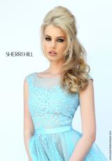 Sherri Hill 11230.  Available in Black/Nude, Ivory/Nude, Light Blue/Nude, Pink/Nude, Red/Nude