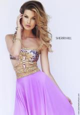 Sherri Hill 32134.  Available in Black, Blue, Coral, Emerald, Fuchsia, Ivory, Ivory/Gold, Orchid, Purple, Royal, Teal, Yellow