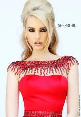 Sherri Hill 32138.  Available in Black, Blush, Ivory, Nude, Red