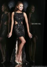 Sherri Hill 4324.  Available in Black, Royal