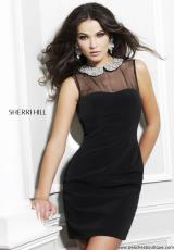 Sherri Hill Short 21291.  Available in Black, Ivory