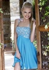 Sherri Hill Short 11049.  Available in Navy/Gunmetal, Turquoise
