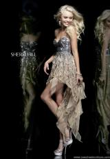 Sherri Hill Short 1922.  Available in Coral, Green, Light Blue, Nude, Pink, Purple, White