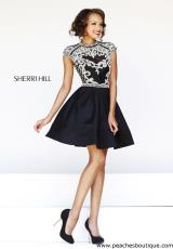 Sherri Hill Short 4300.  Available in Black, Ivory, Light Blue, Silver