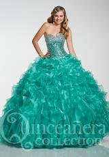 Tiffany Quinceanera 26755.  Available in Champagne, Jade, Pink
