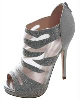 Blossom-Footwear Yael-54.  Available in Black Mesh, Nude Mesh, Silver Mesh
