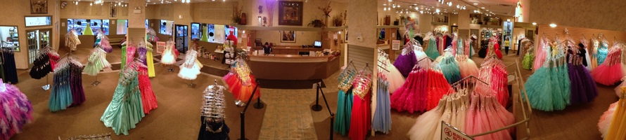 Inside are prom dress store