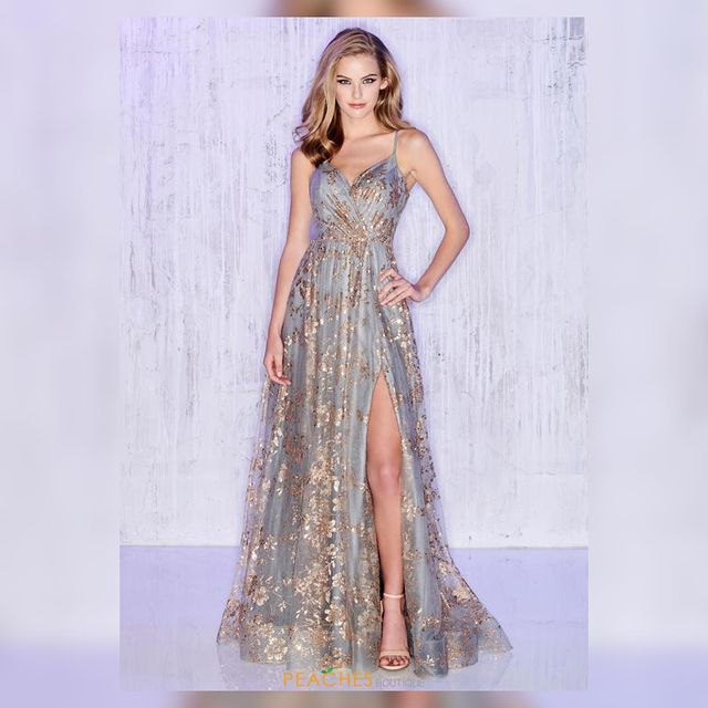 Channel your inner fashionista in the gorgeous Colette dress CL12006 ??? @coletteformoncheri #peachesboutique #prom #pageant #love #pageant #fyp #glam #instock