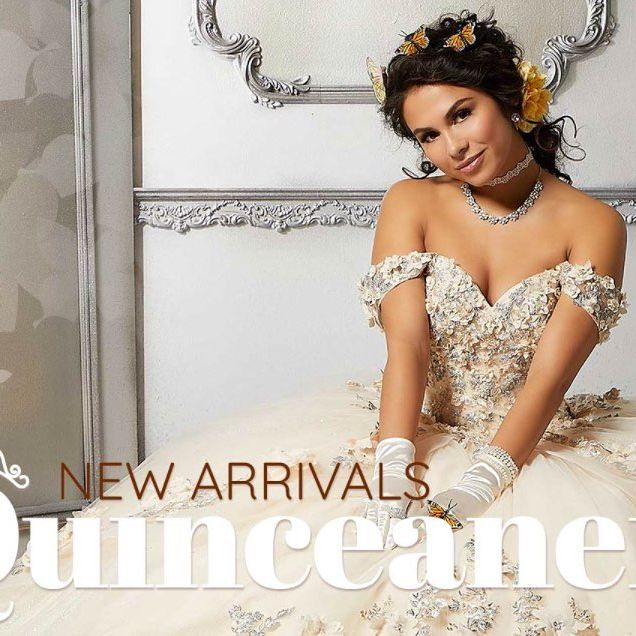 Who's excited for the new quincenearas dresses coming to Peaches! I know we are ???? click the link in the bio to see more ?? #peachesboutique #quinceañera #quince #dresses #fashion #style #love #princess #vizcaya #fyp #new @morileequince
