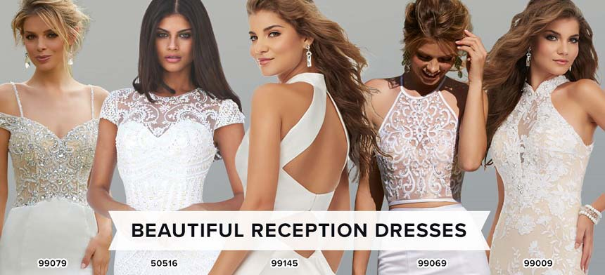 Wedding reception dresses peaches boutique reception the hottest trend to hit the wedding scene is to wear not only one dress on your big day but two after dazzling in your bridal dress junglespirit Choice Image