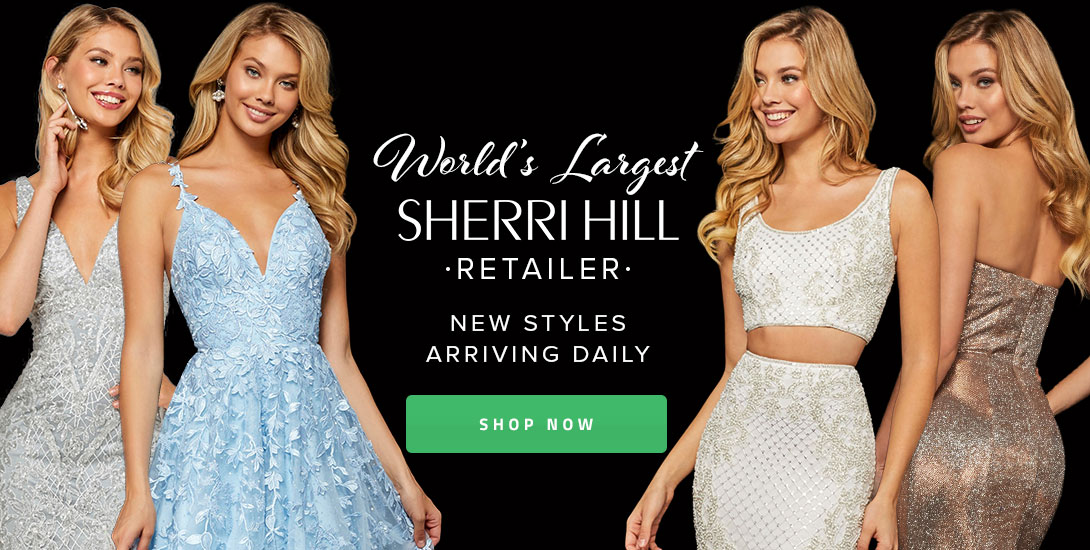 144dd268a2f World s Largest Sherri Hill Retailer. Largest Prom Retailer. Previous Next.  Sezzle. Shop 2019 Homecoming Dresses