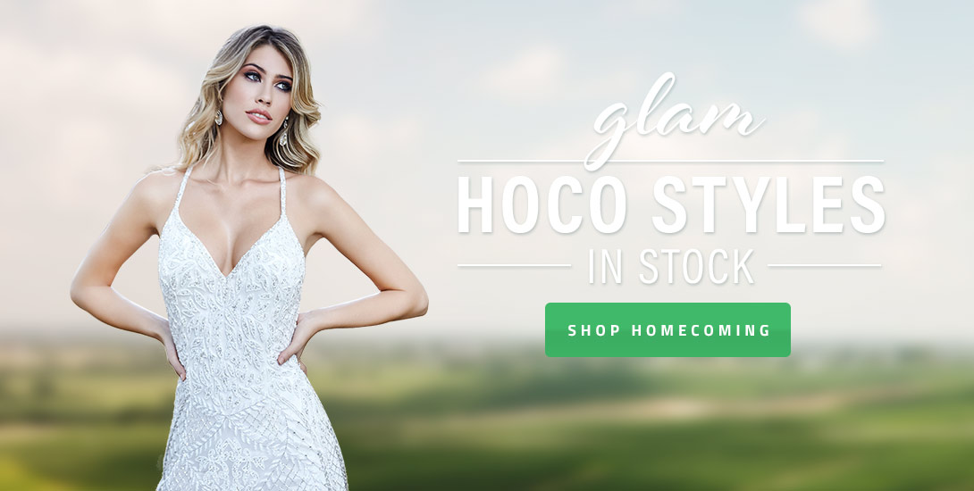 Glam Hoco Styles in Stock