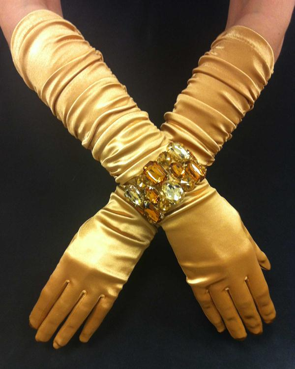 Gold Scrunchy Gloves