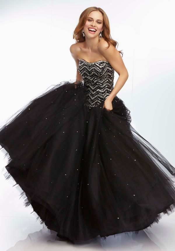 Mori Lee Sequins Bodice Dress 95036