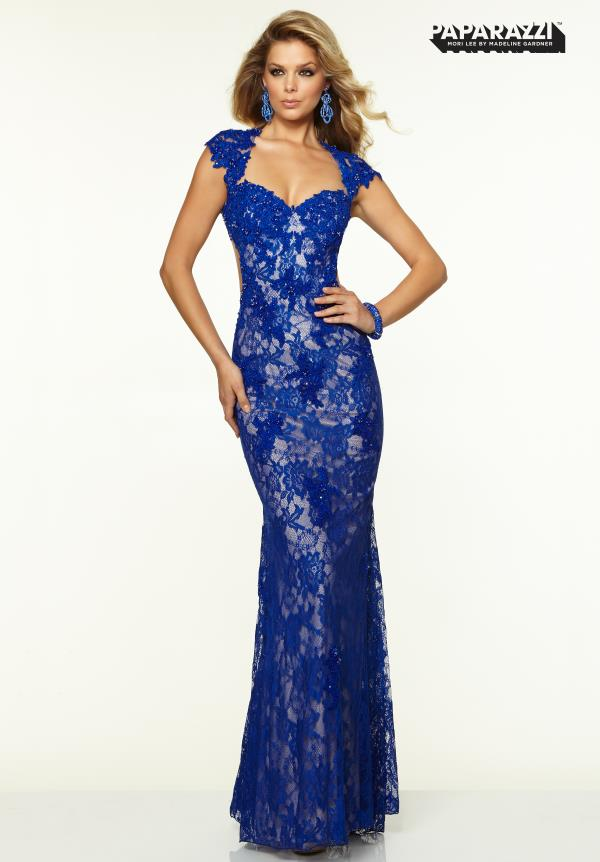 Mori Lee Lace Fitted Dress 97038