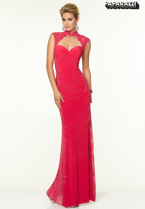 Mori Lee Long Jersey Dress 97060