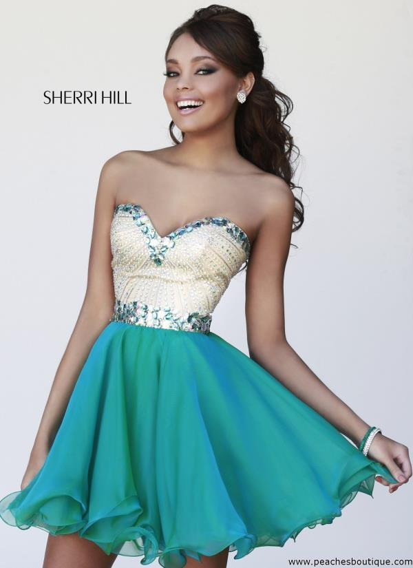 Sherri Hill Short Beautiful Flowy Dress 1929