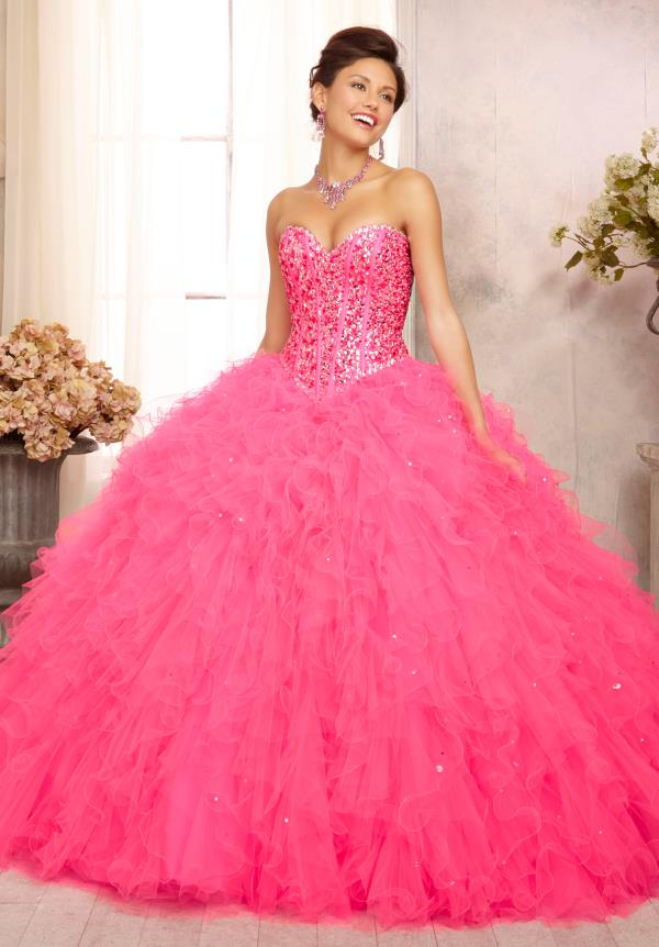 Vizcaya Quinceanera Tulle Lime Dress 88087
