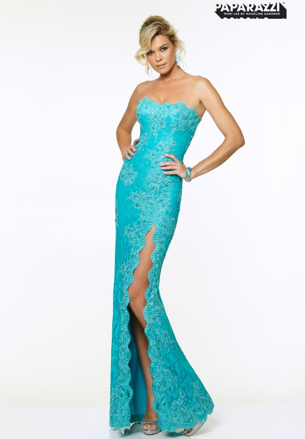 Mori Lee Fitted Long Dress 97001
