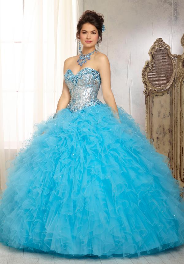 Vizcaya Quinceanera Sequins Dress 88081
